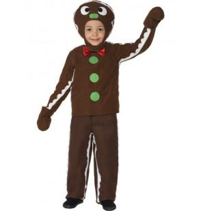 Disfraz De Galleta De Jengibre Infantil Talla 7 9 Años