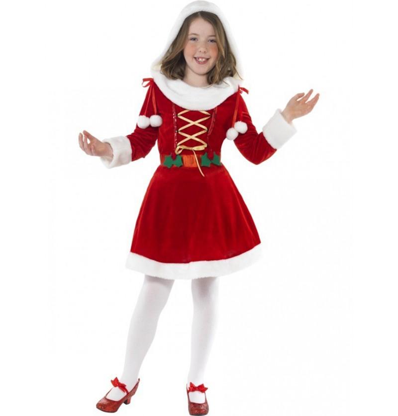 Disfraz de pequeña Miss Santa