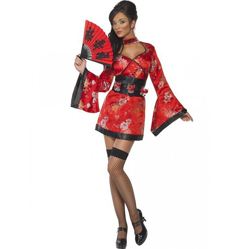 Disfraz de geisha con chupitos Fever