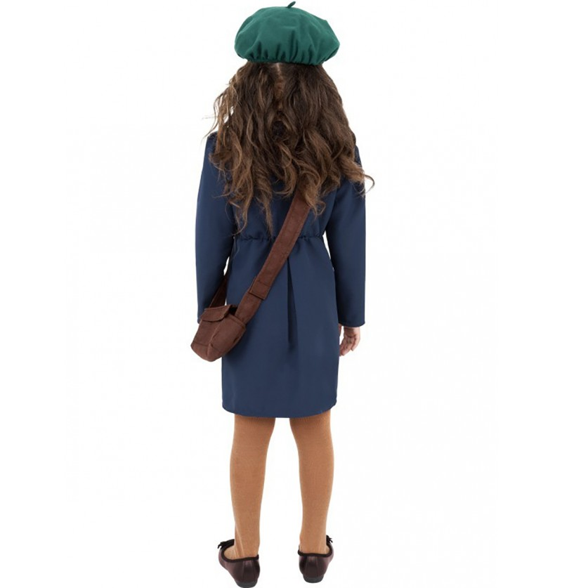 Disfraz de niña de los años 40 azul