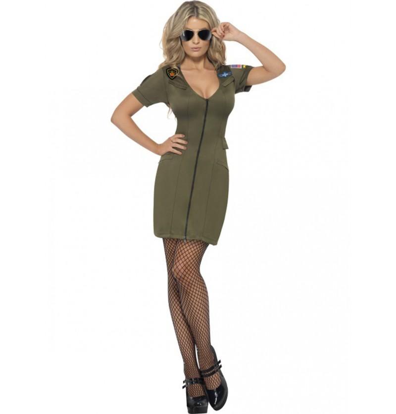 Disfraz de Top Gun sexy para mujer