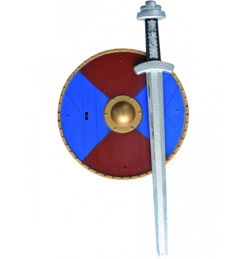 Set medieval con espada y escudo para niño