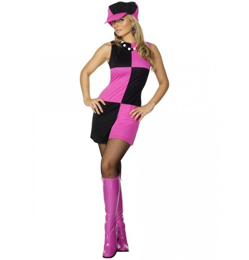 Disfraz de moderna de los 60 para mujer