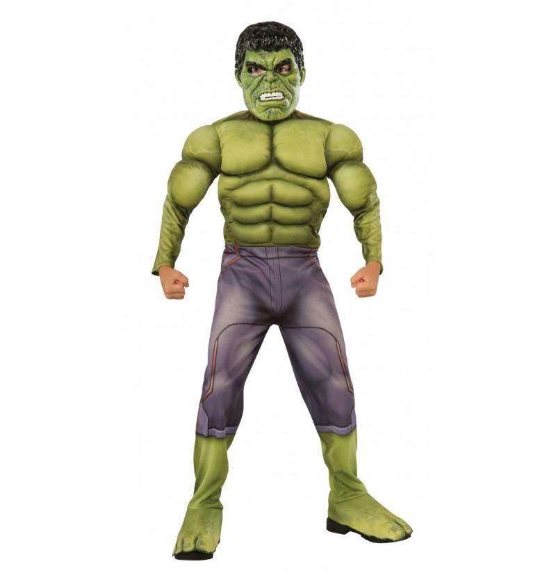 Disfraz de Hulk musculoso para niño