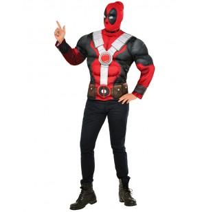 kit disfraz de deadpool musculoso para hombre