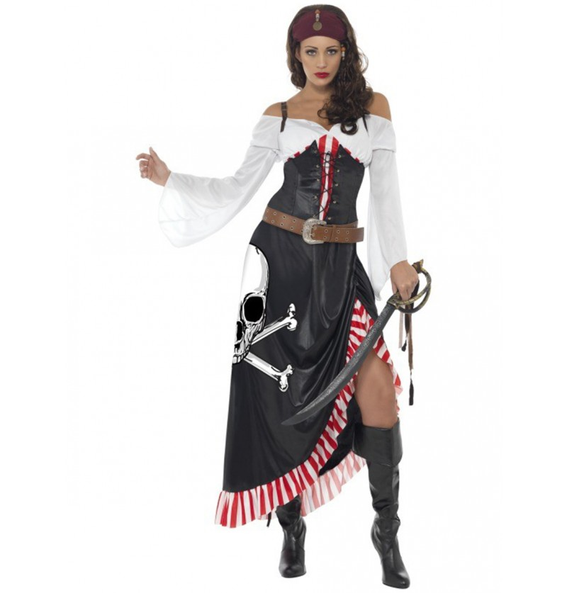 Disfraz de espadachín pirata para mujer