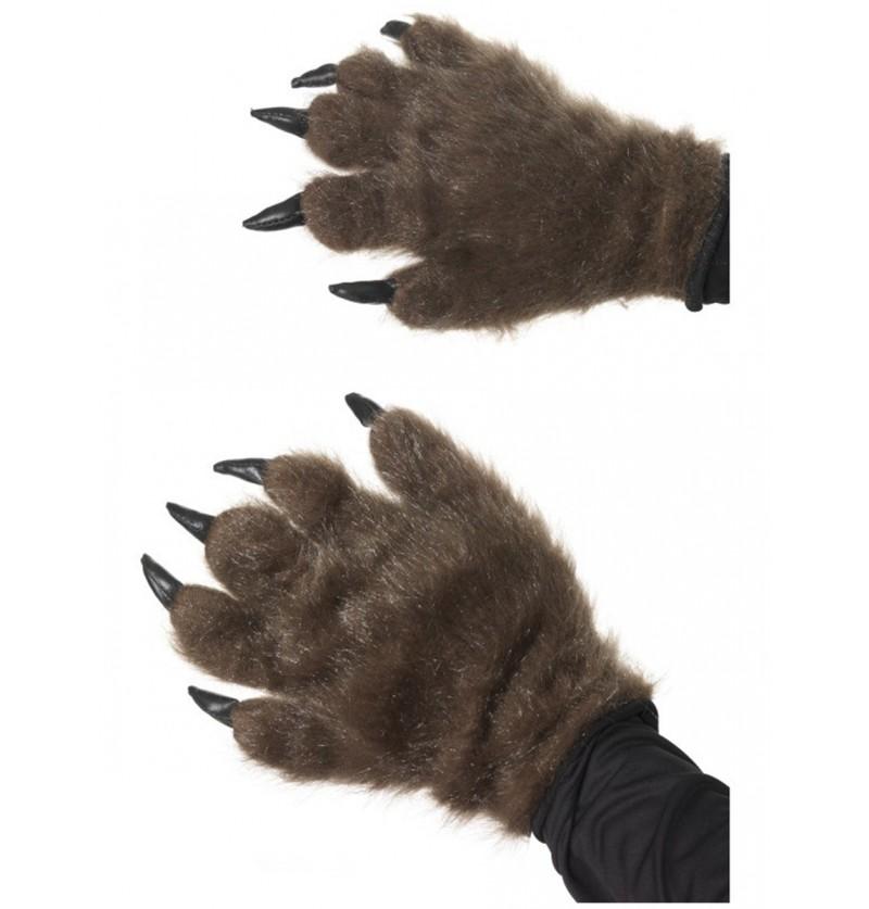 Manos de monstruo peludo marrón