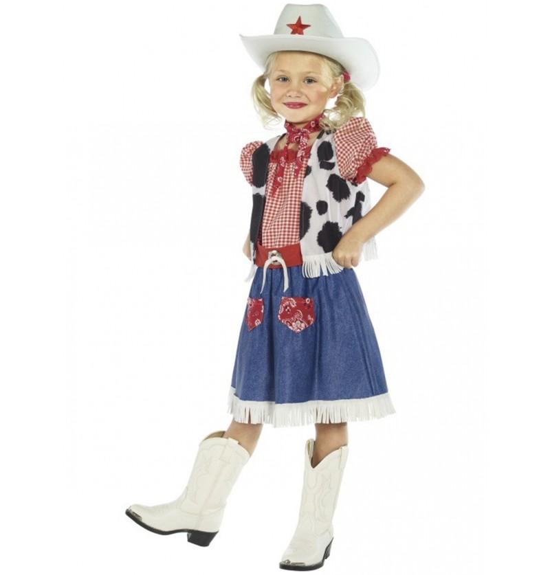 Disfraz de vaquera dulce para niña