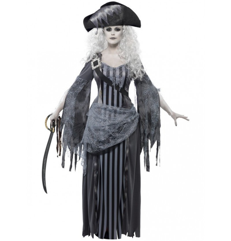 Disfraz de princesa pálida de barco fantasma