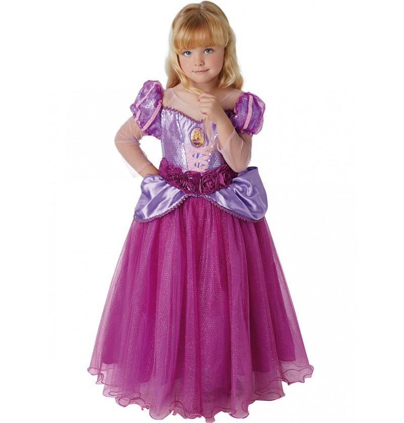 Disfraz de Rapunzel premium para niña