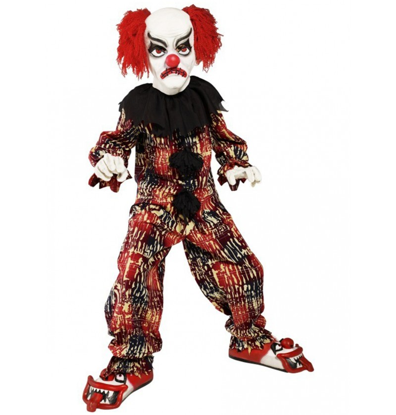 Disfraz de payaso espeluznante infantil