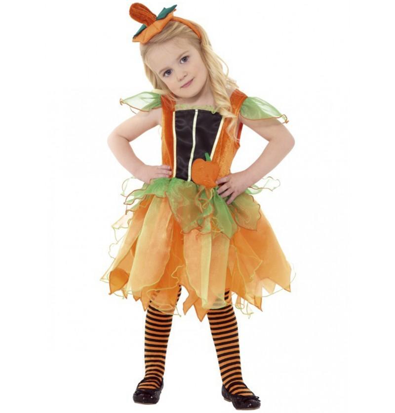 Disfraz de hada calabaza para niña