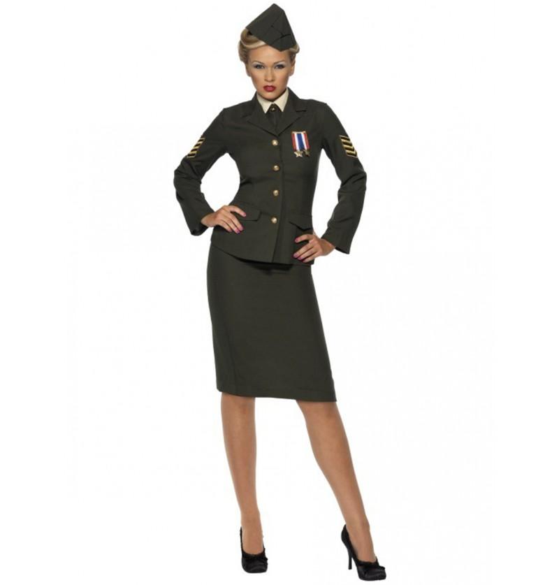 Disfraz de oficial de guerra para mujer