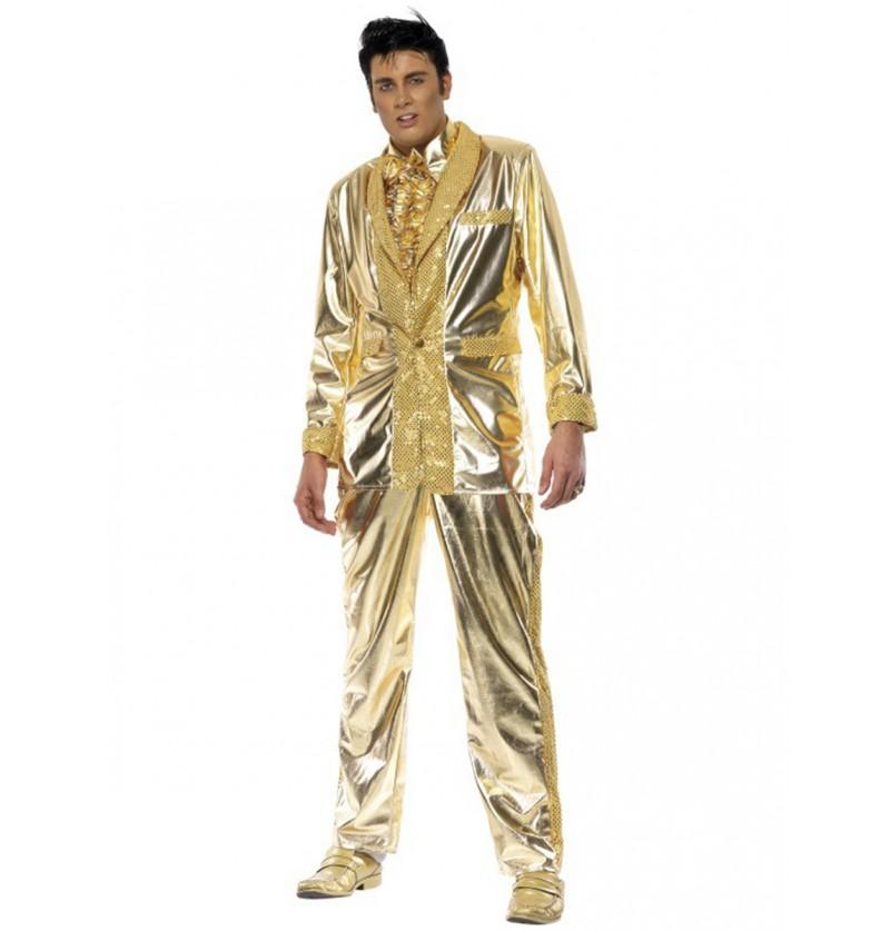 Disfraz de Elvis dorado