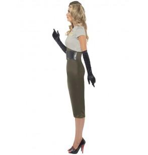 Disfraz de chica pin-up del ejército de la 2ª Guerra Mundial