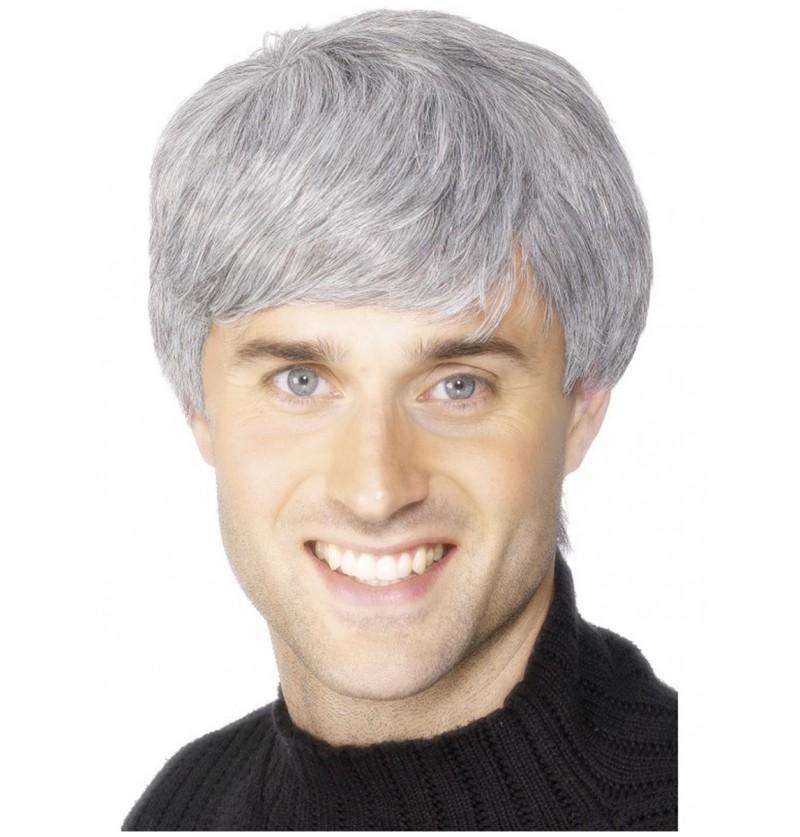 Peluca corporativa gris