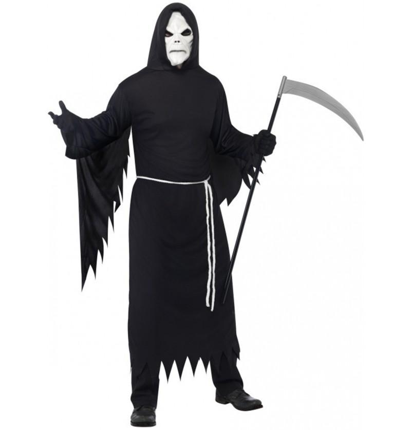 Disfraz de la muerte con máscara