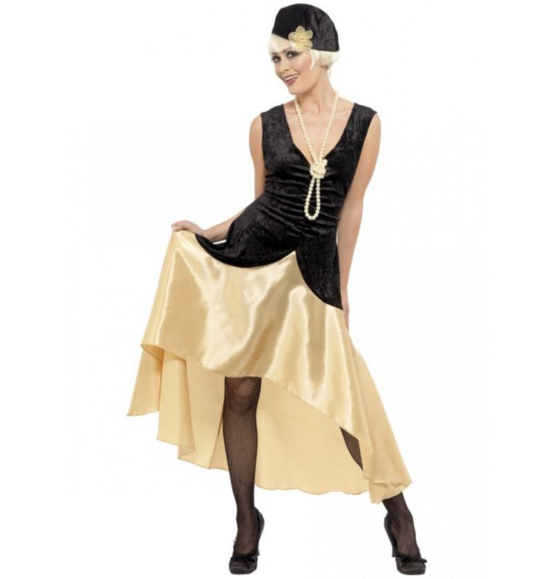 Disfraz de dama de los años 20