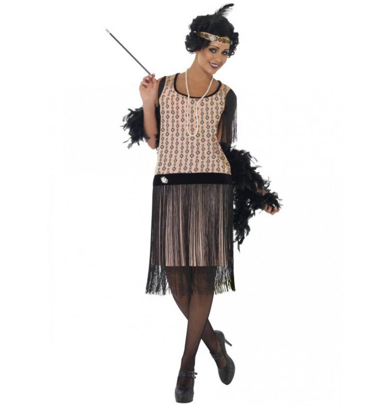Disfraz de charlestón glamuroso para mujer