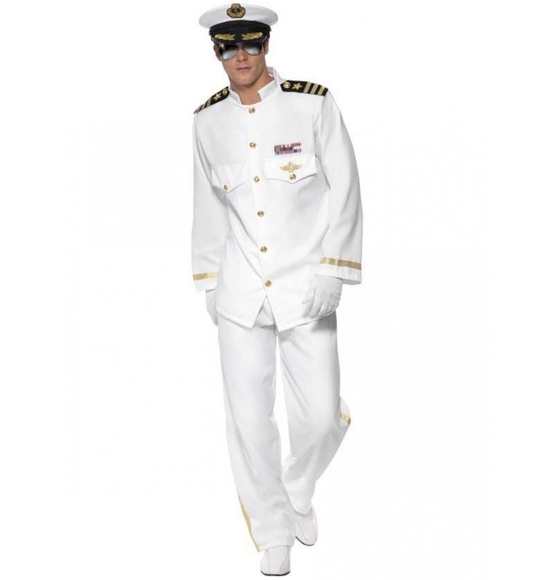 Disfraz de capitán Deluxe para hombre