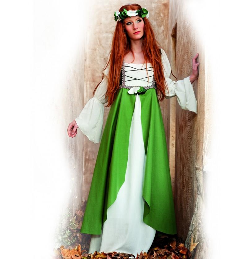 Disfraz medieval Clarisa verde