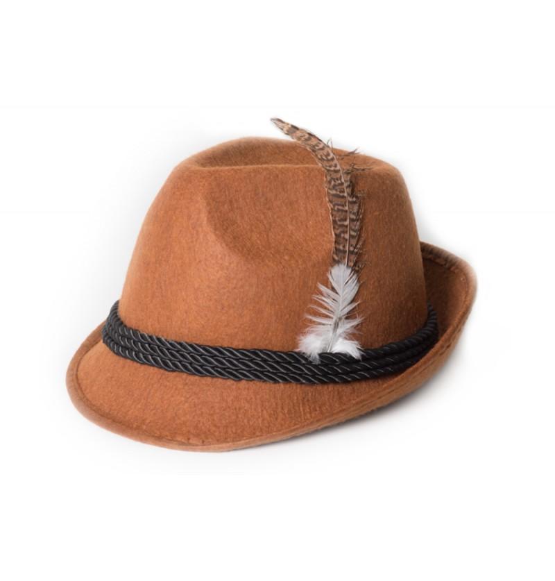 Sombrero de tirolés marrón para adulto