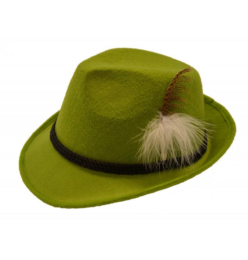 Sombrero de tirolés verde para adulto