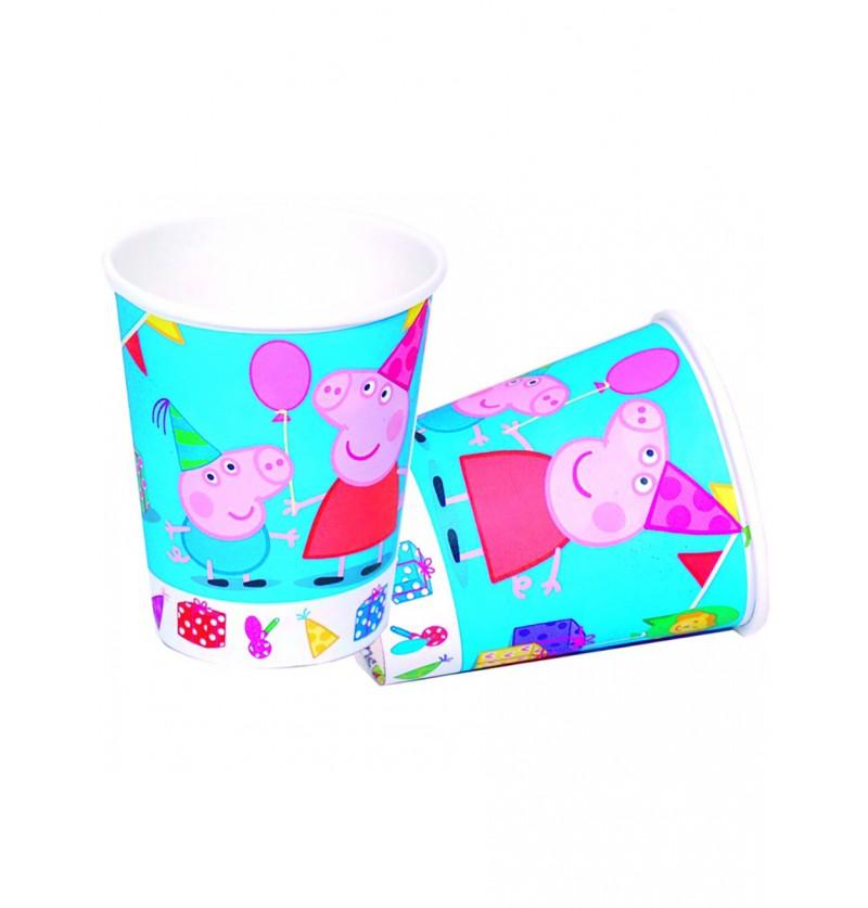 Set de vasos Peppa Pig