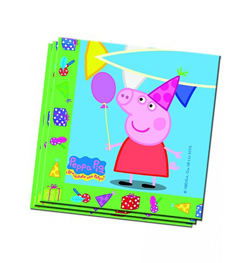 Set de servilletas Peppa Pig