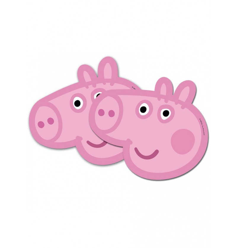 Set de caretas Peppa Pig