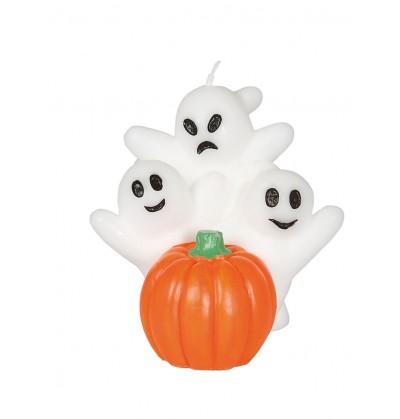 vela de fantasmas con calabaza