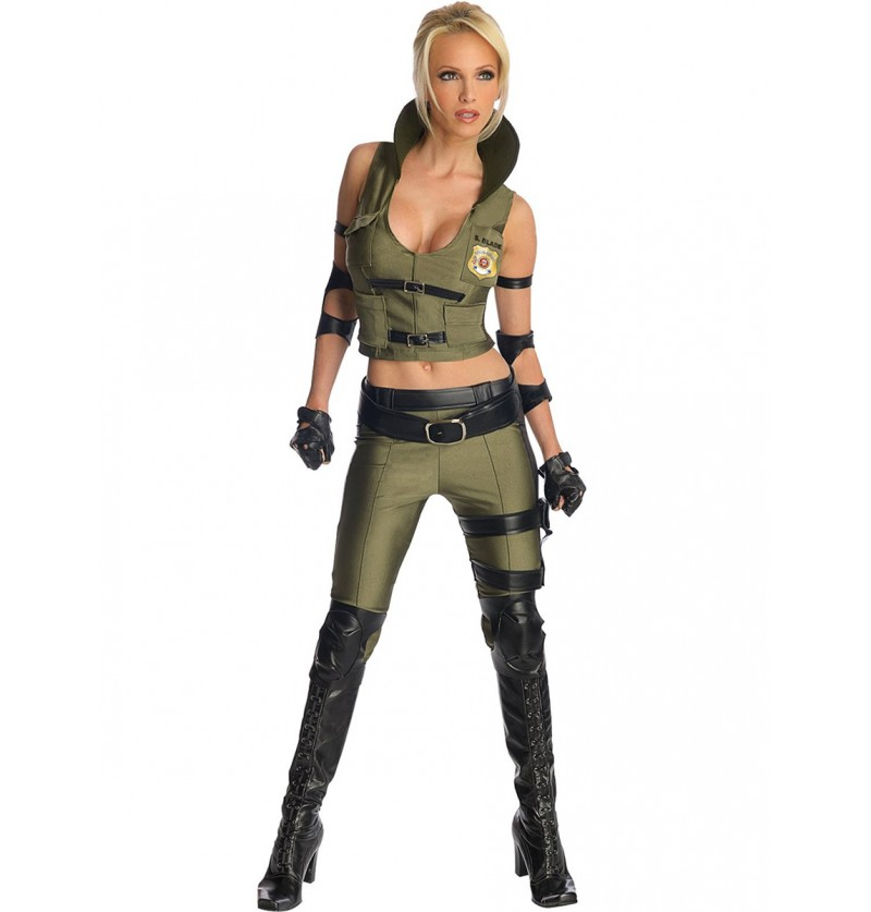 Disfraz de Sonya Blade Mortal Kombat para mujer