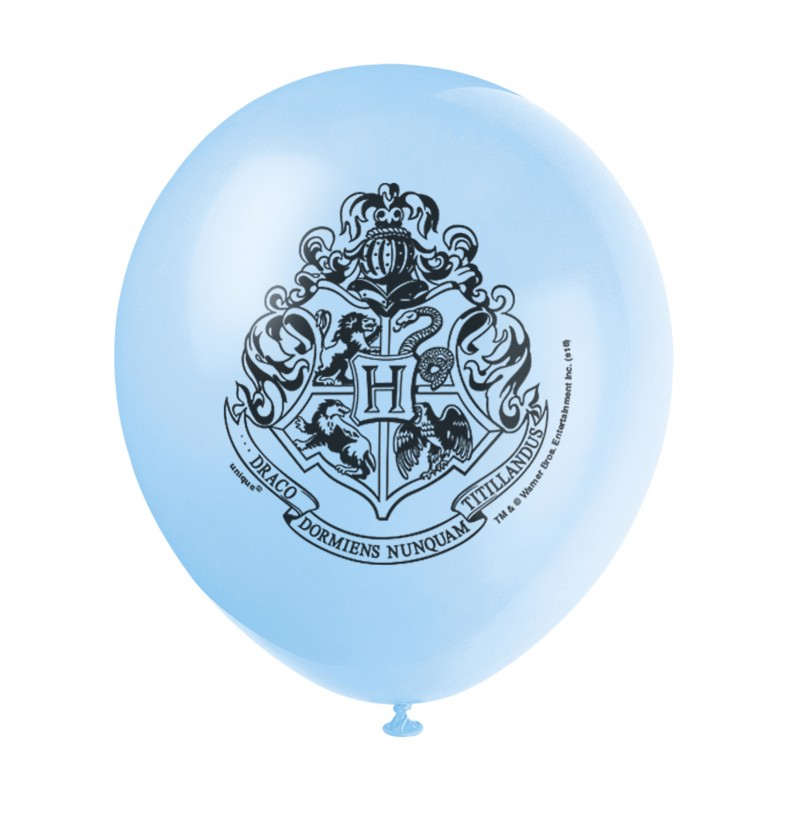 Set de 8 globos variados Casas de Hogwarts - Harry Potter
