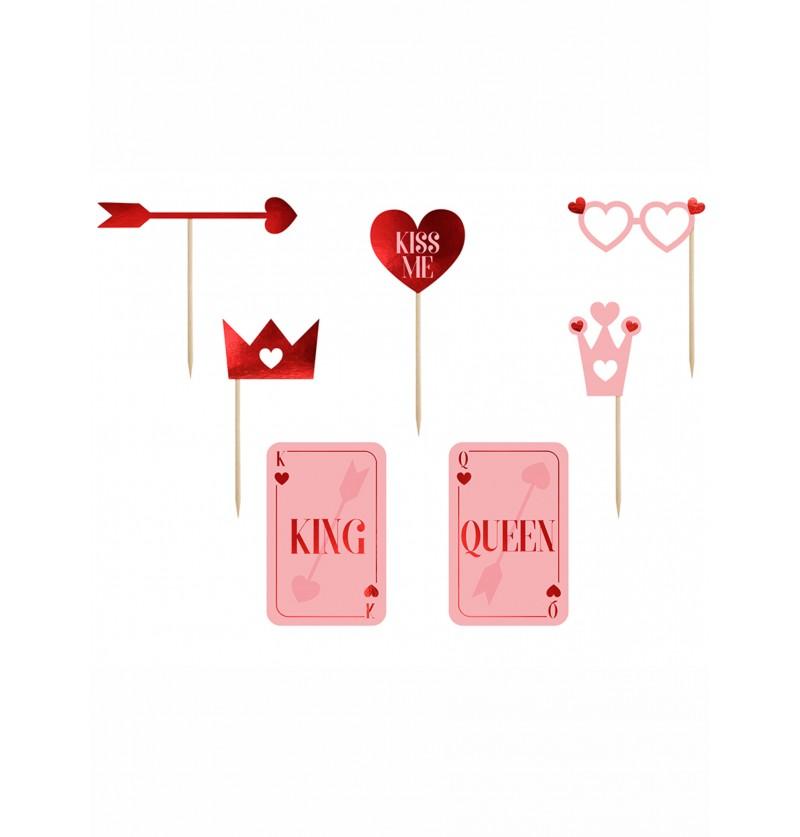 Set de 7 piezas para photocall - Valentine Collection