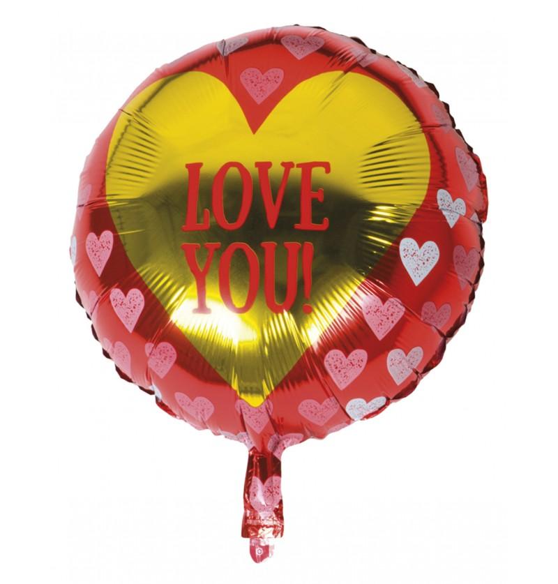 Globo Foil con corazones – Love You
