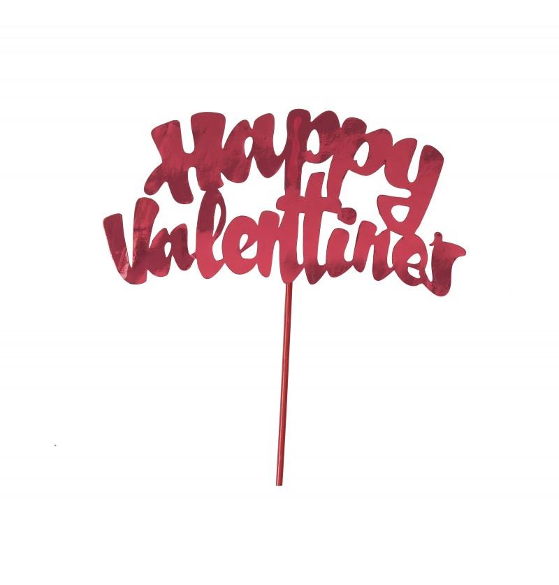 Stick decoración de pastel happy valentine's