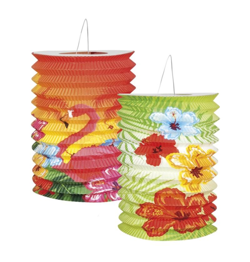Set de 2 faroles flamenco hawai - Hibiscus