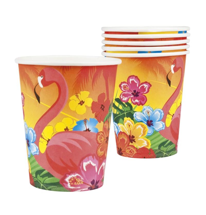 Set de 6 vasos flamenco hawai - Hibiscus