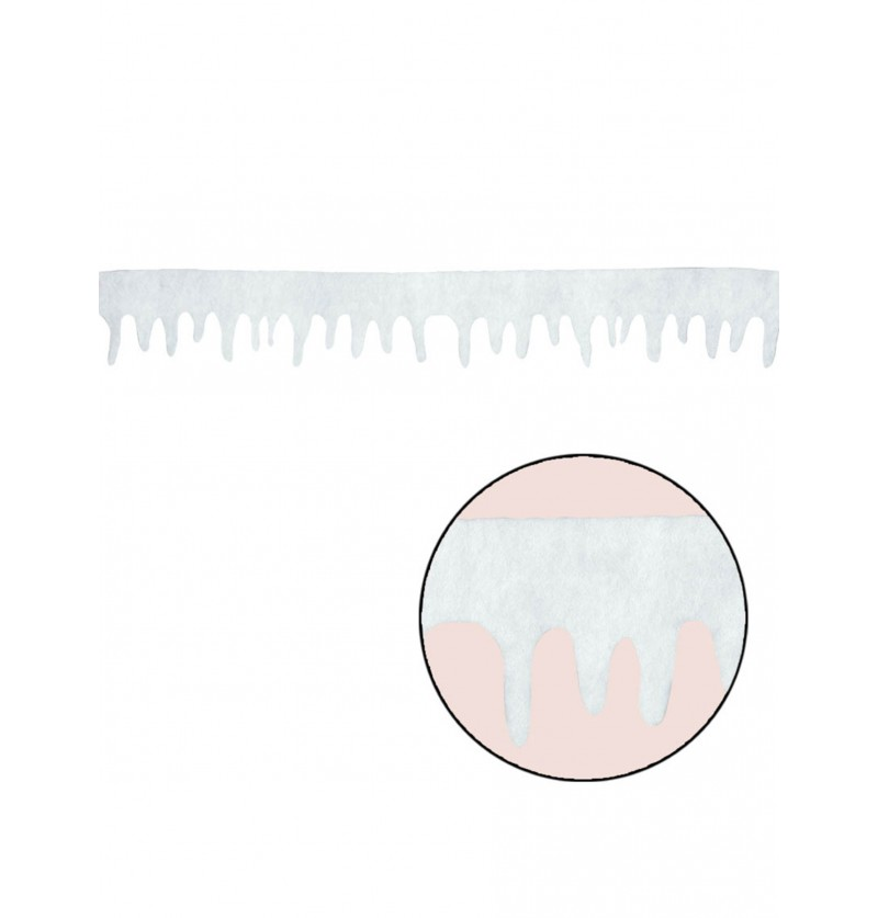Tira de nieve decorativa