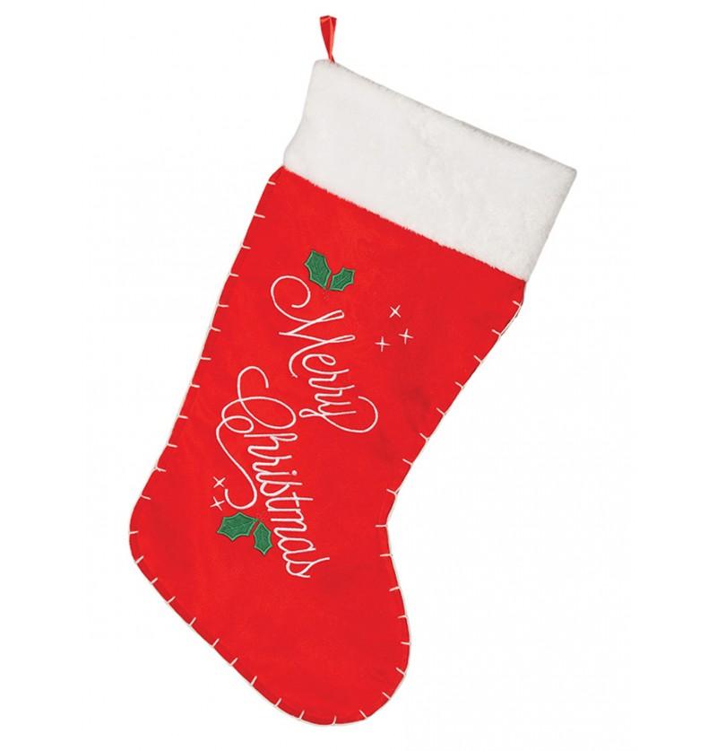 Bota navideña de Merry Christmas