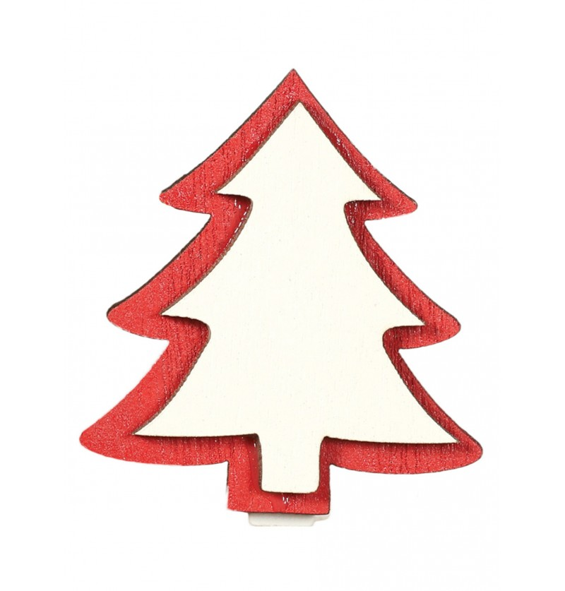 Set de 9 pinzas de árboles navideños