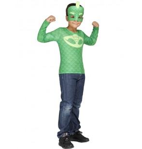 kit disfraz de gekko pj masks en caja para nio