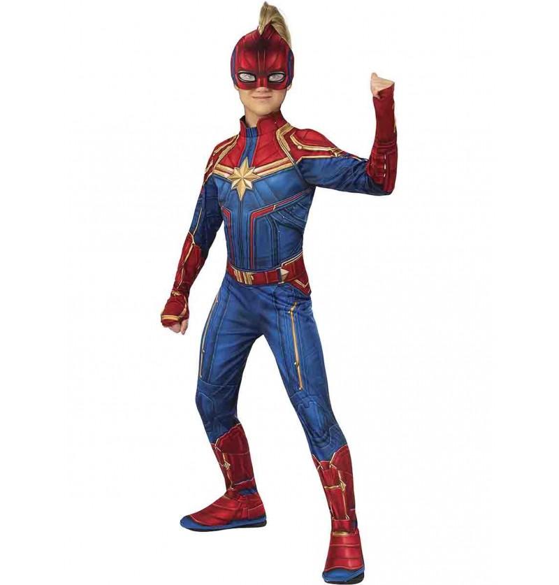 Disfraz de Capitana Marvel para niña