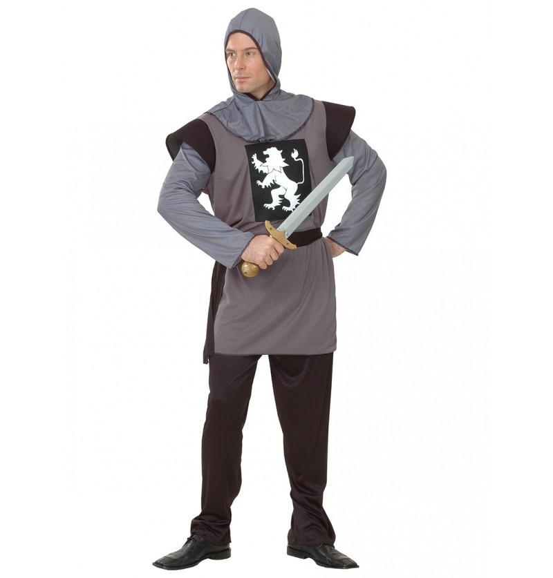 Disfraz de guerrero medieval con armadura para hombre