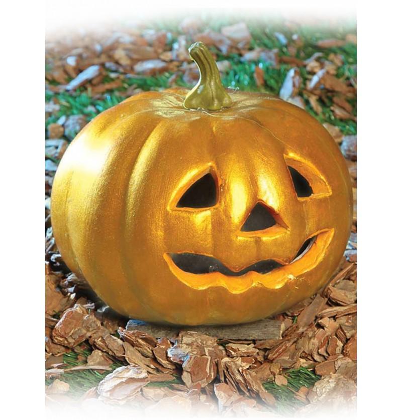 Calabaza Dorada Luminosa Halloween
