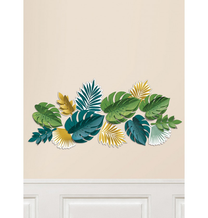 Set de 13 hojas tropicales decorativas - Key West