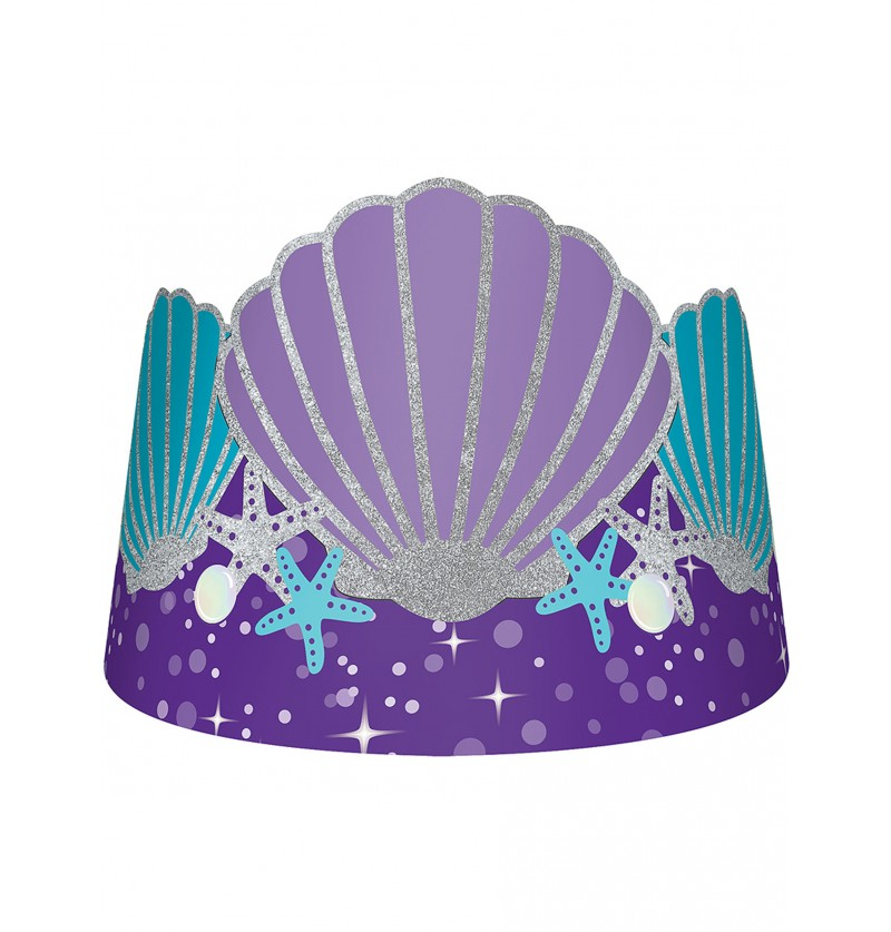 Set de 8 tiaras con concha - Mermaid Wishes