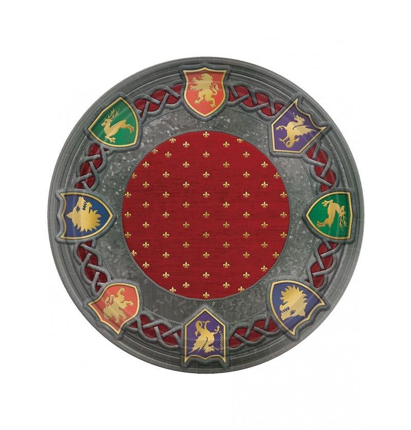 Set de 8 platos con escudos medievales - Medieval Collection