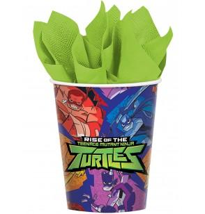 Set de 8 Vasos de papel de las Tortugas Ninja