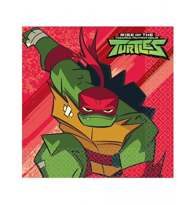 Set de 16 Servilletas de las Tortugas Ninja